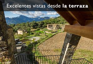 casa rural terraza en pirineos